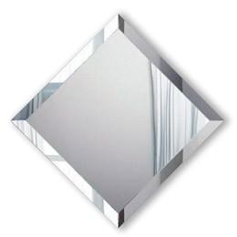 серебристое, бронзовое или графитовое зеркало с фацетом любого размера в багетной раме