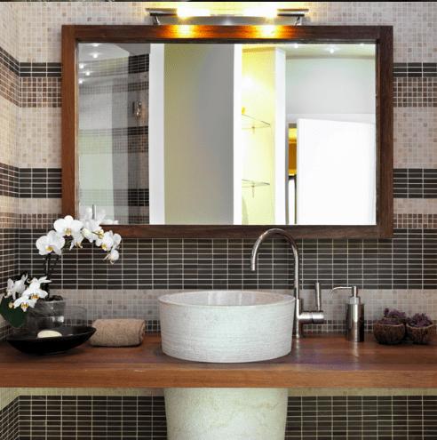 зеркало в ванную в багетной раме в ассортименте