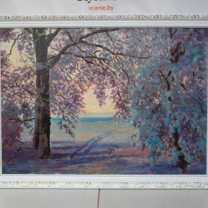 Картина «Зимнее кружево» холст/масло, размер 43*60