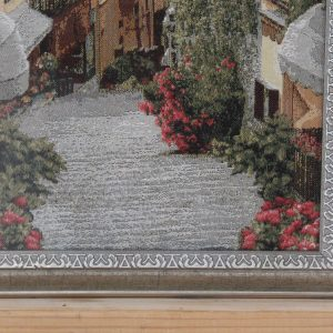 Гобелен «Цветочная улица» размер 35*70 в багетной рамке