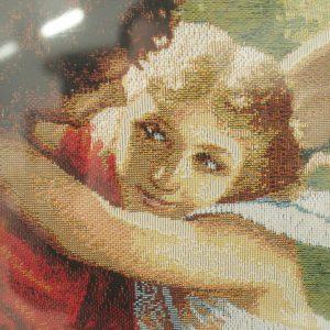 Гобелен «Влюбленные на качелях» размер 50*70 в багетной рамке