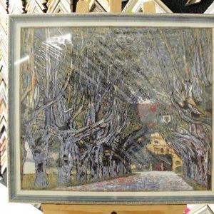 Гобелен «Аллея В. Ван Гог» размер 55*65 в багетной рамке
