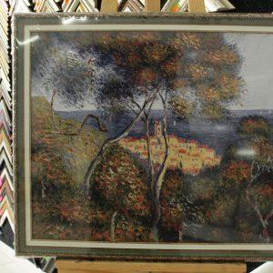 Гобелен «Морской пейзаж В. Ван Гог» размер 55*65 в багетной рамке