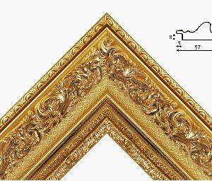Рамка 40*50 из пластикового багета золотого цвета с классическим рисунком